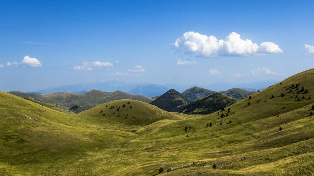 Højsletten Campo Imperatore i Gran Sasso Nationalpark