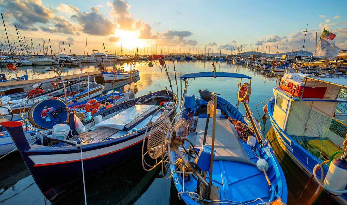 Fiskerbåde i Silvi Marina