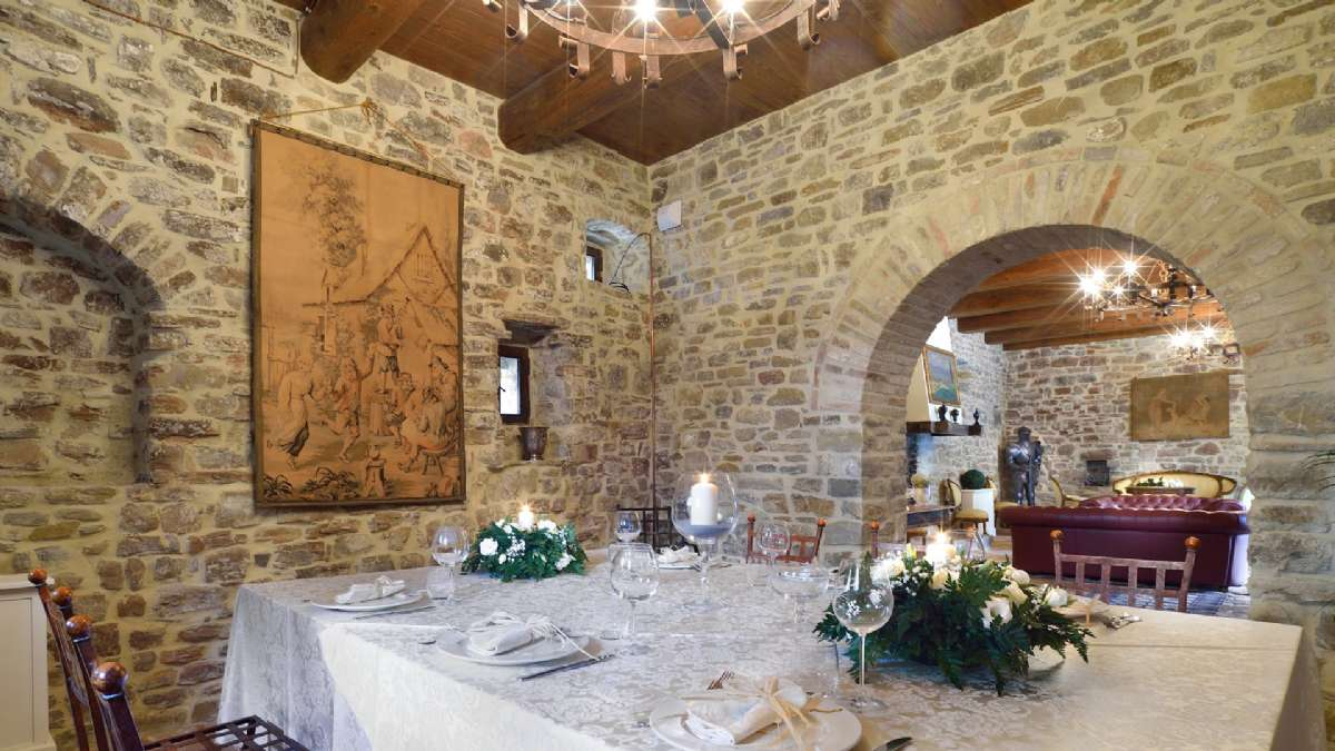 Das Restaurant im Schloss von Sorgnano