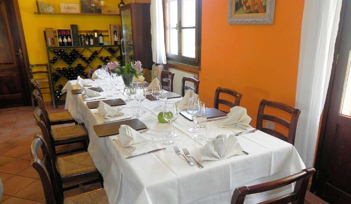 Restaurangen på Podere La Pieve Vecchia