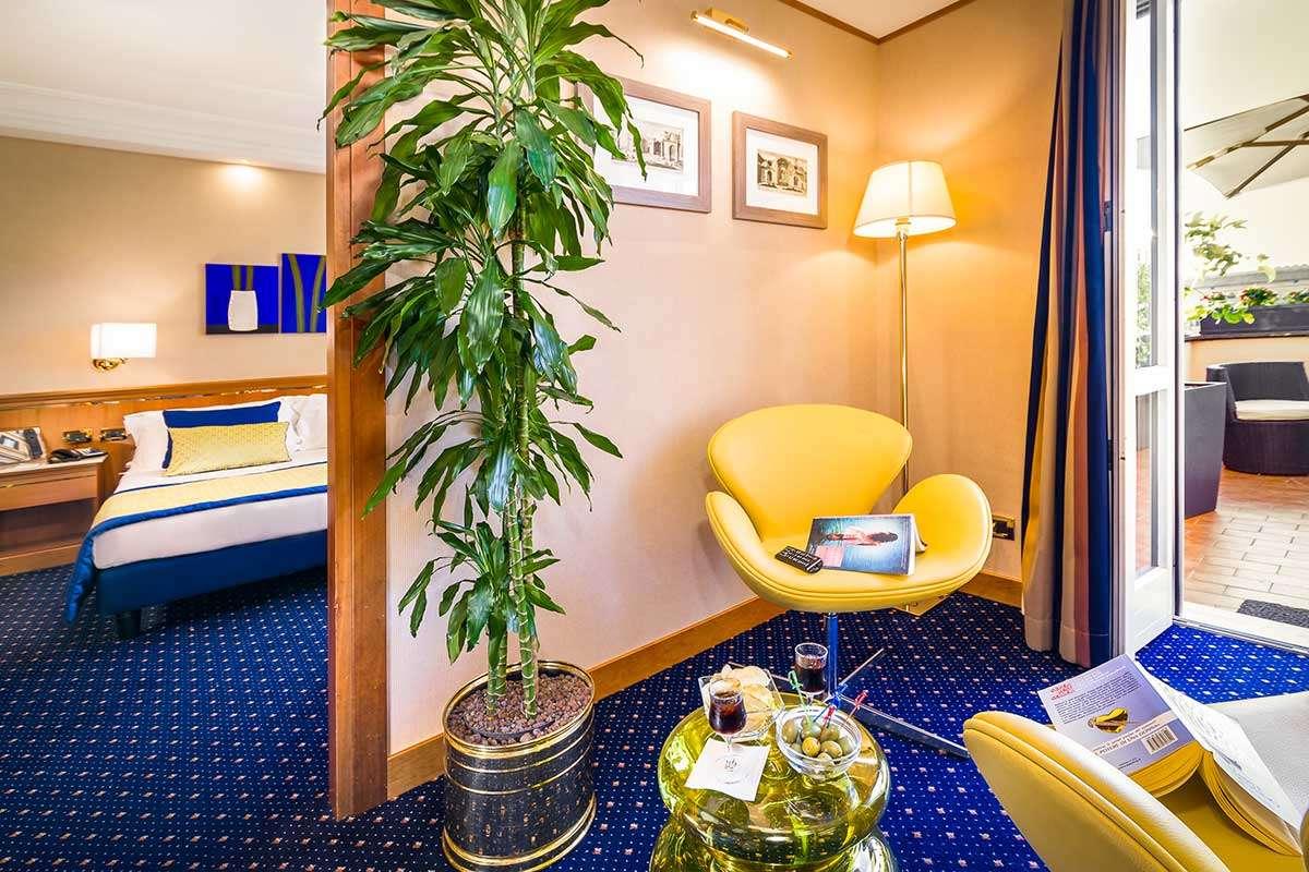 Deluxe værelse med privat terrasse
