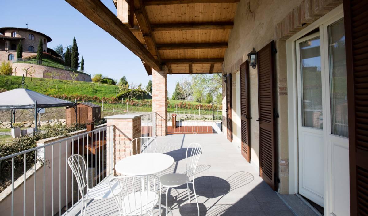 Terrassen til værelset Favorita