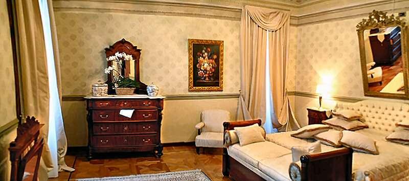 Sovrum i en suite