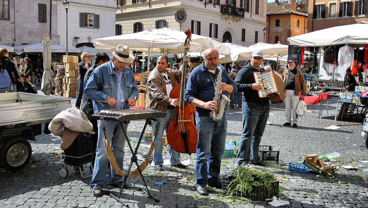 Les musiciens de Campo de' Fiori