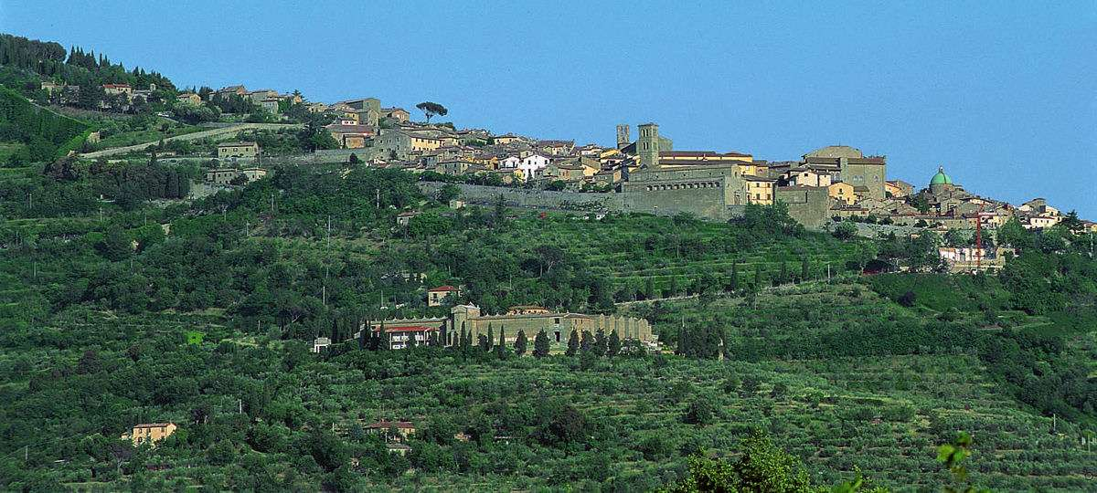 Cortona seen from a distance