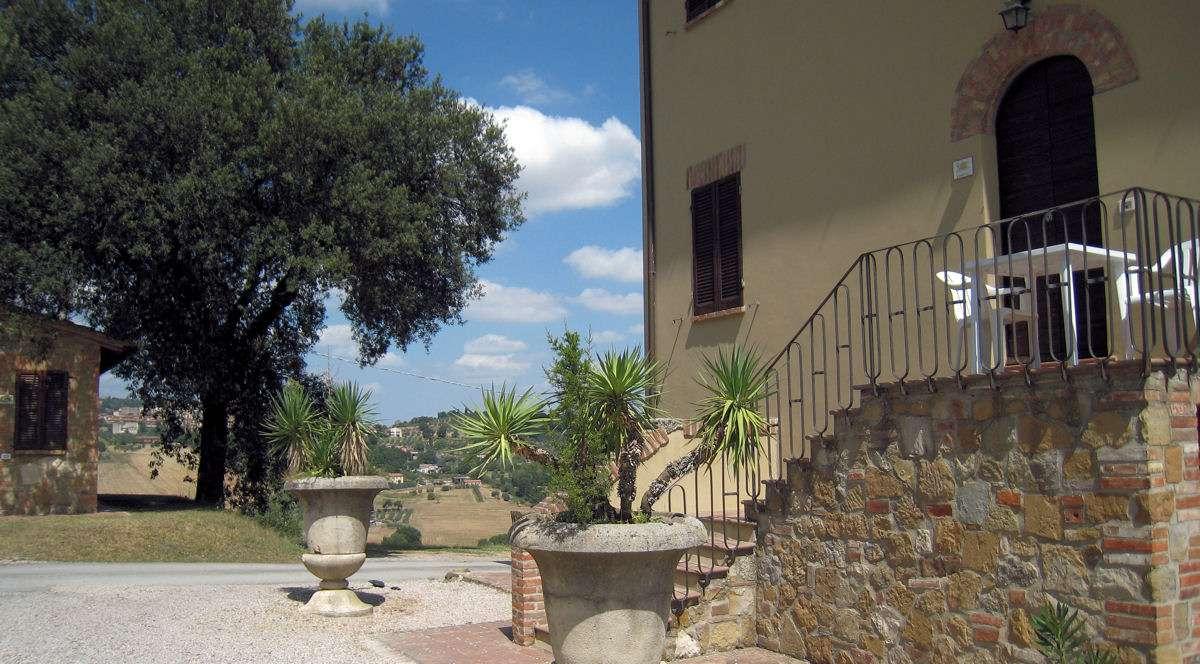 Lägenheten Leccio med egen liten terrass på andra våningen