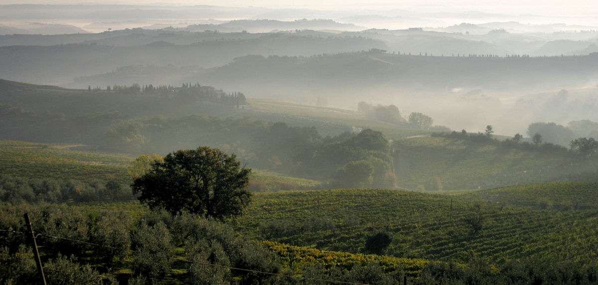 The Chianti Wine District in the middle of Tuscany