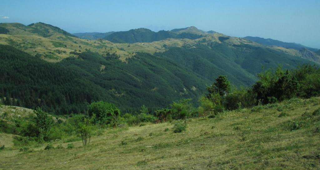 Berglandskap från Appenninerna