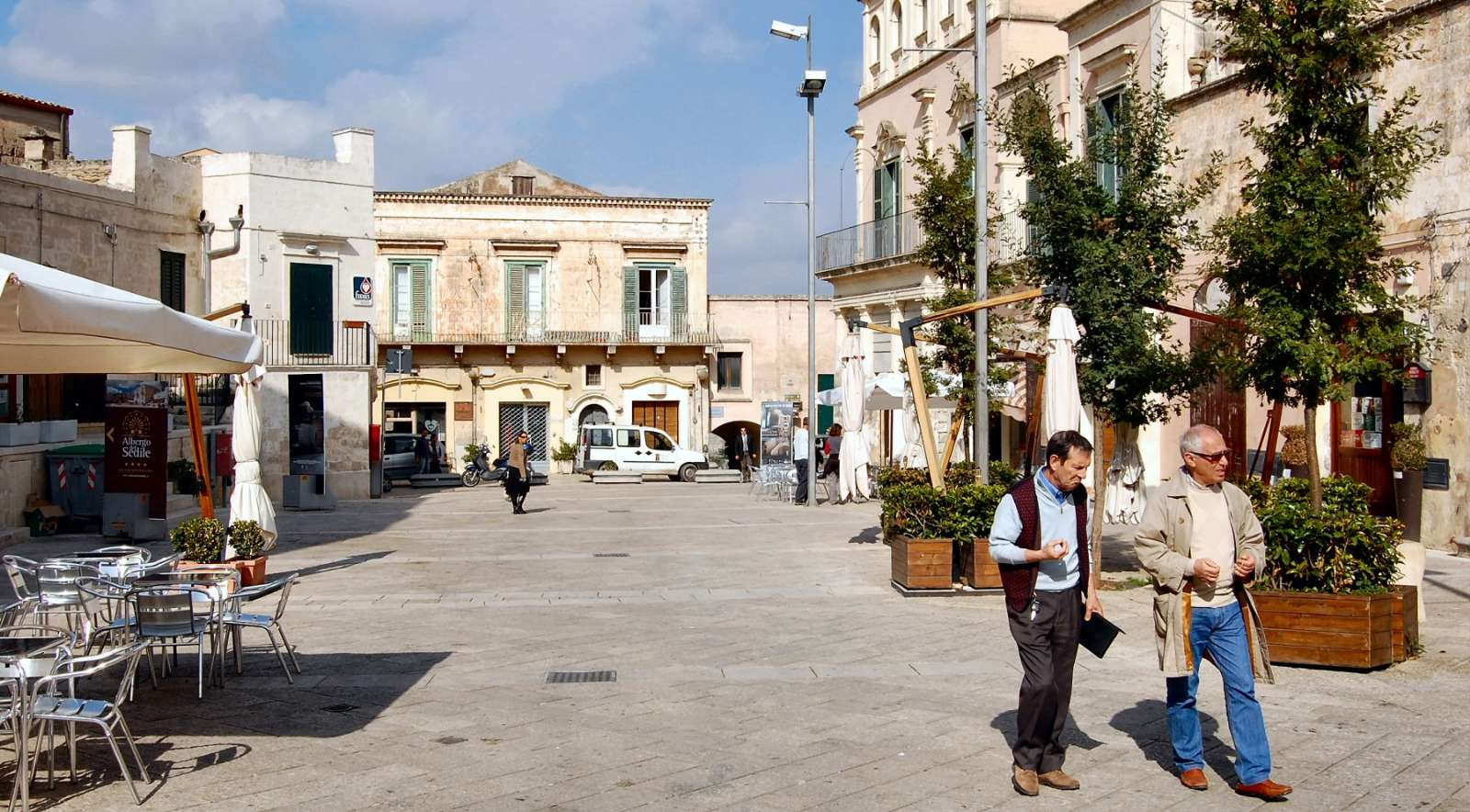 Matera is full of cozy squares. Here is Piazza Sedile