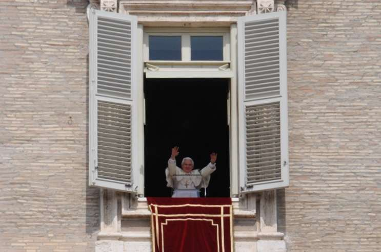 The former Pope Benedict 16th