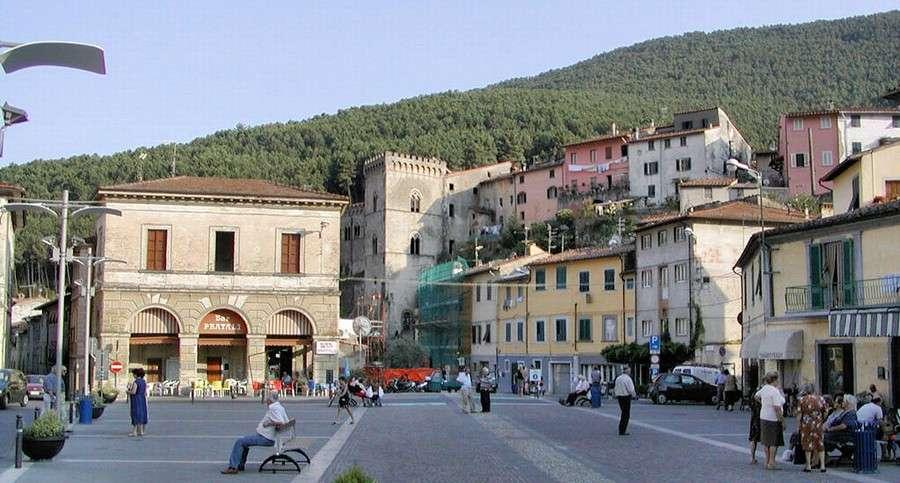 The piazza in Buti