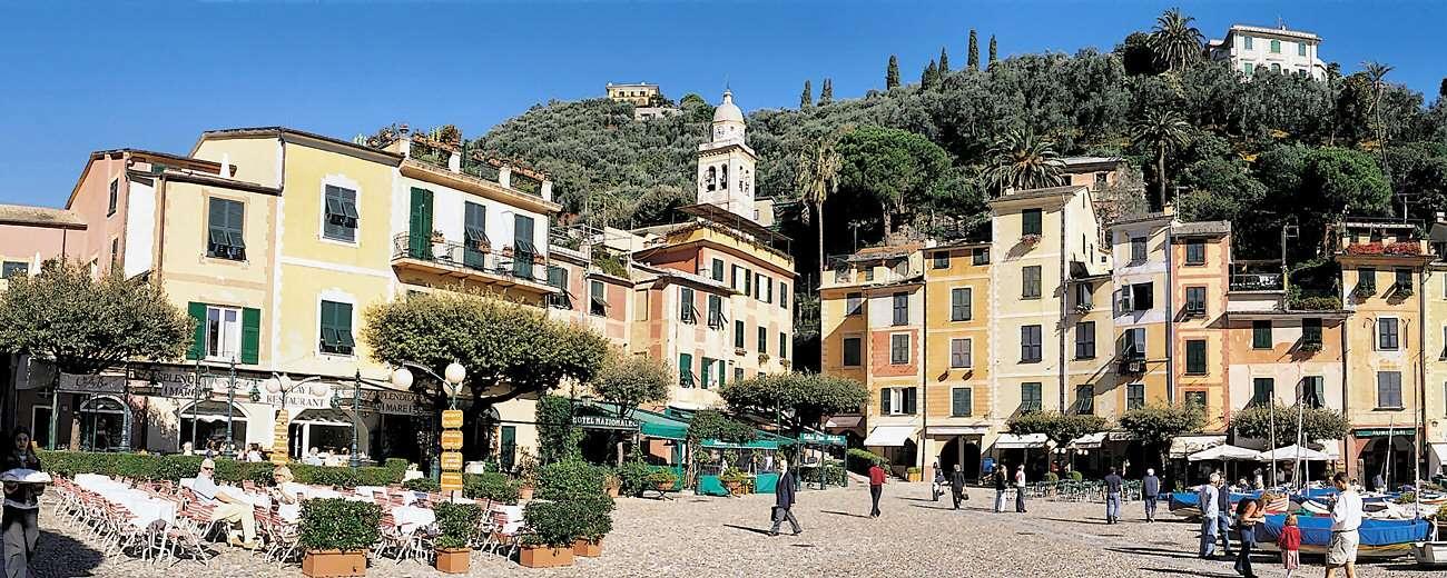 Hotel Eden ligger 50 m från Portofinos stämningsfulla torgplats