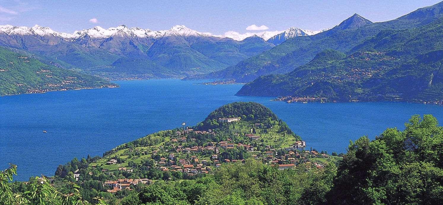 Comosjöns centrala knutpunkt med Bellagio på spetsen