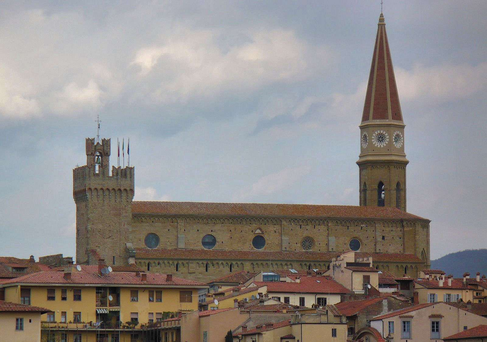 Die Kathedrale in Arezzo