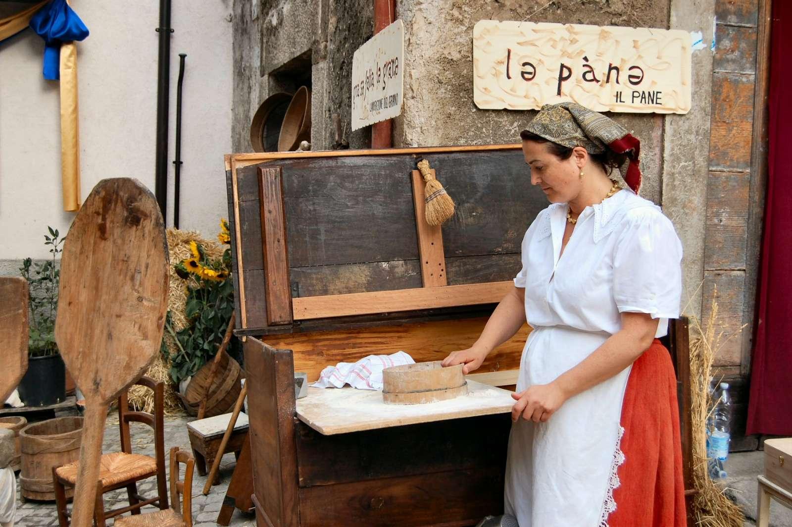 The local town festival of crafts traditions: La Festa degli antichi Mestieri