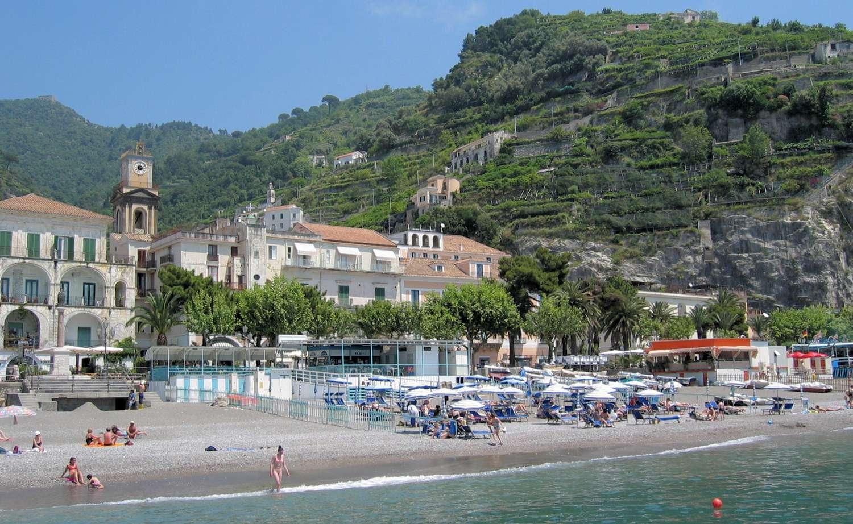 Den gode strand i Minori