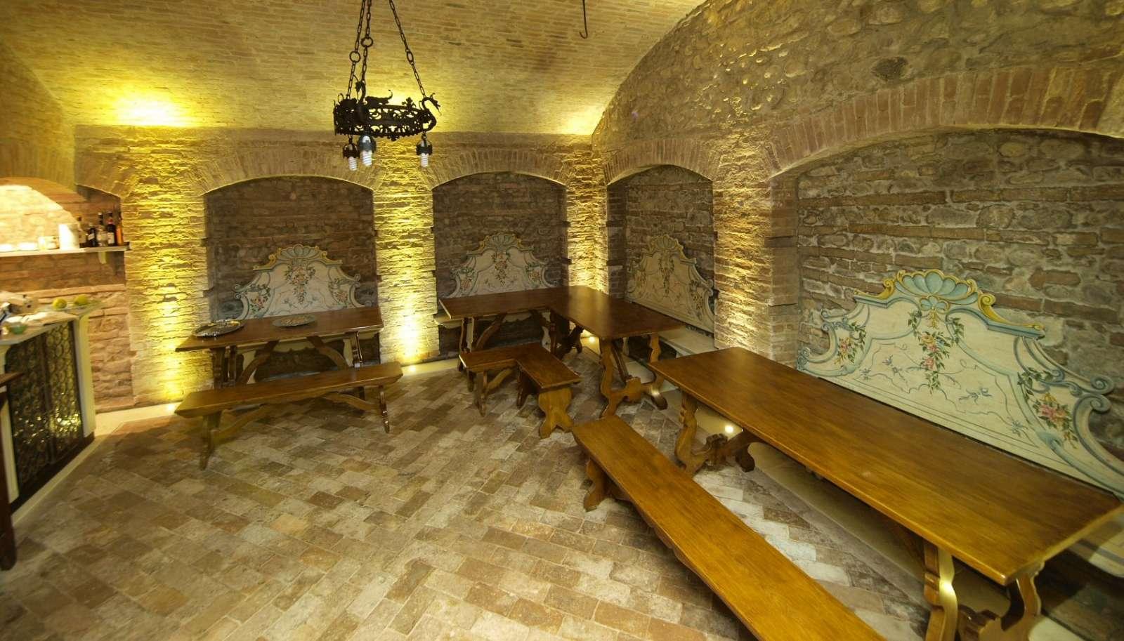 The historic breakfast room
