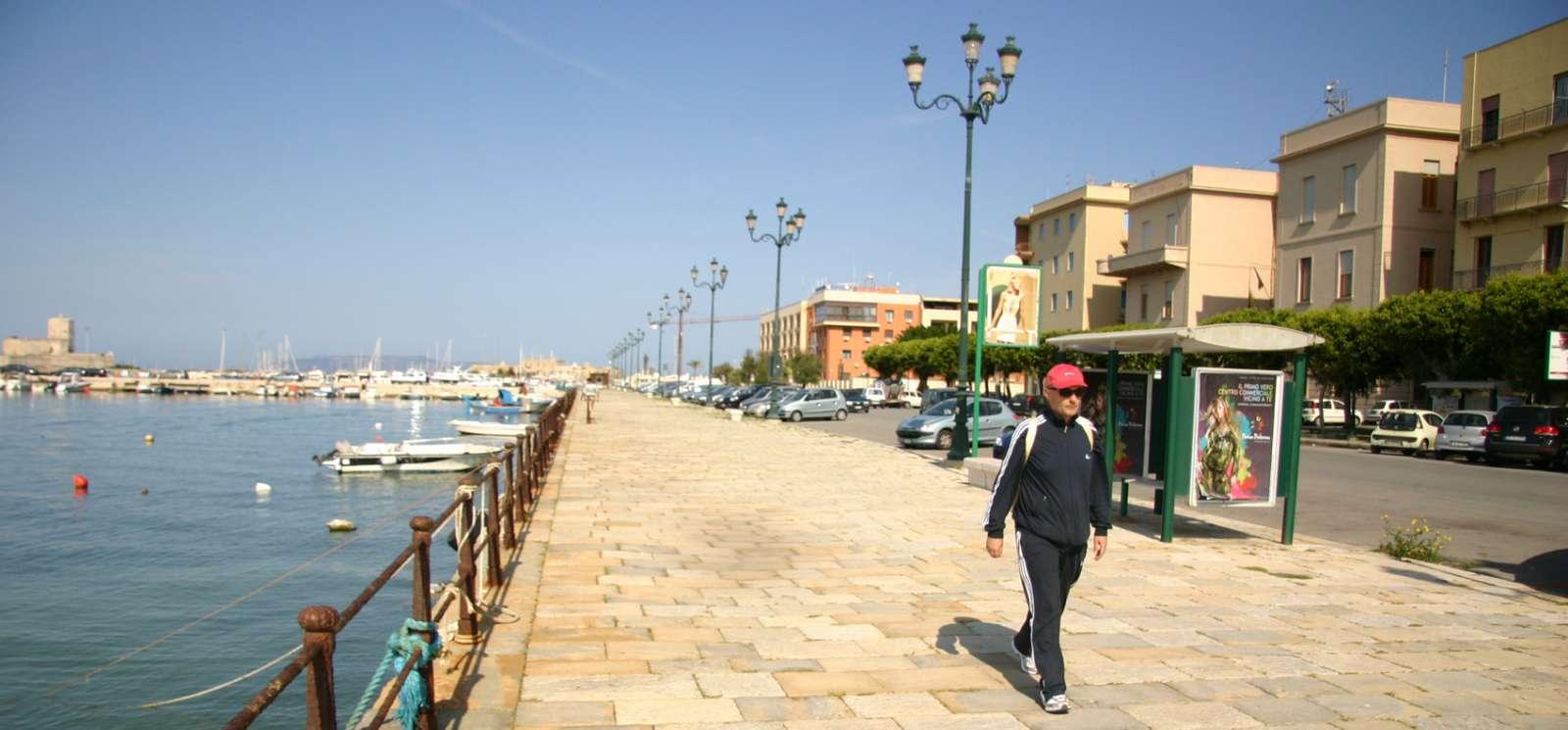Sea promenade by the harbor