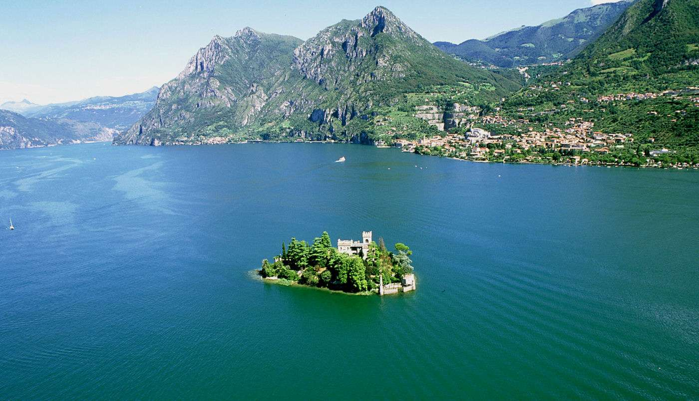 Iseo and one of its islets
