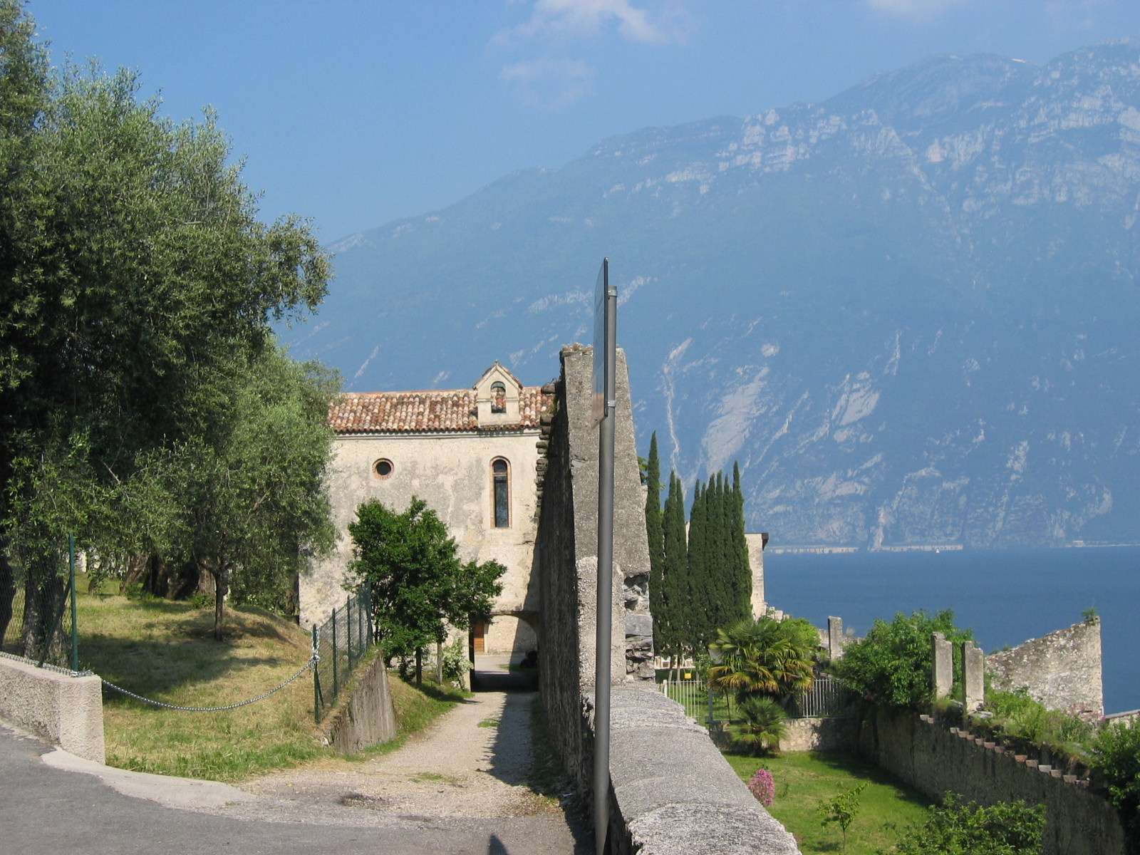 The cemetery outside Limone sul Garda
