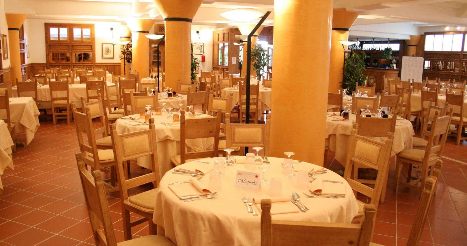 Restaurangen på Albergo Villa Nencini