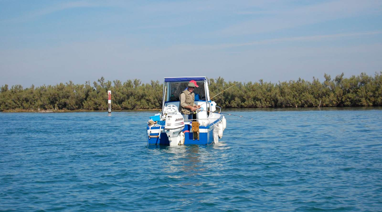 Pêche dans la lagune
