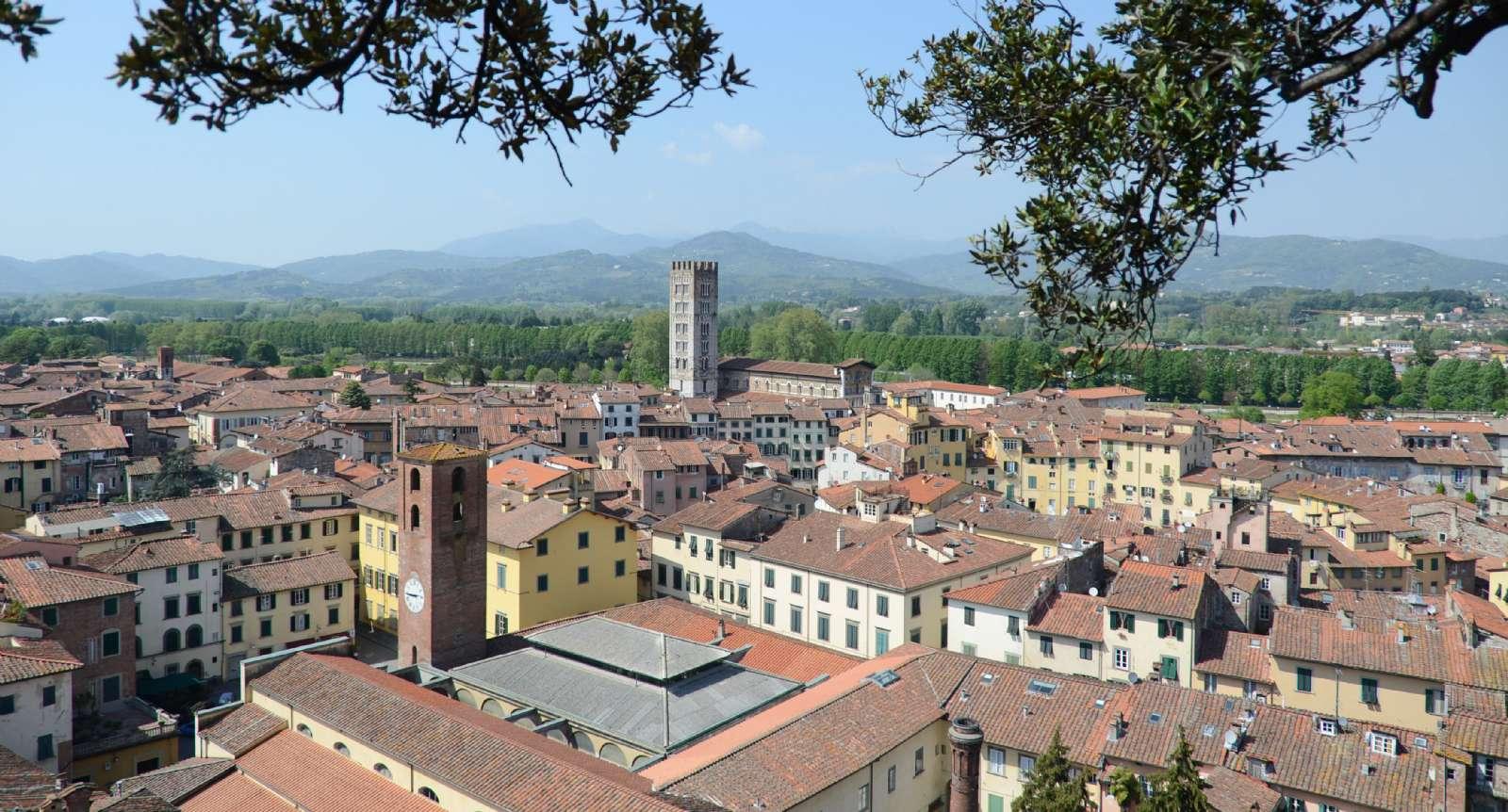 Lucca set fra luften