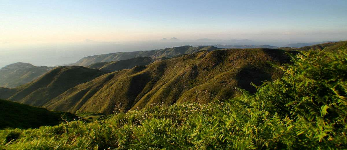 View from Nebrodi Mountains to the Aeolian Islands