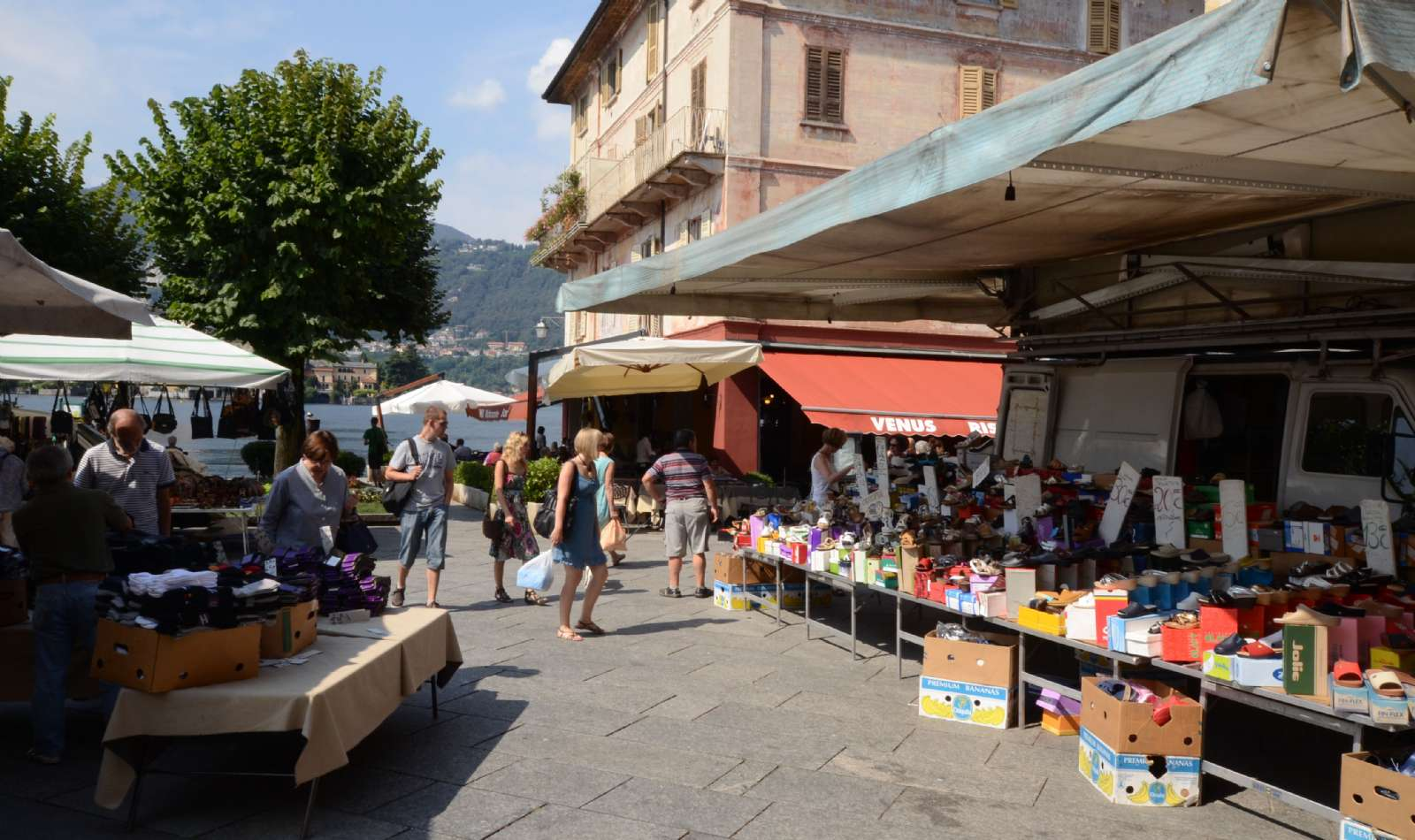 The town's weekly market day