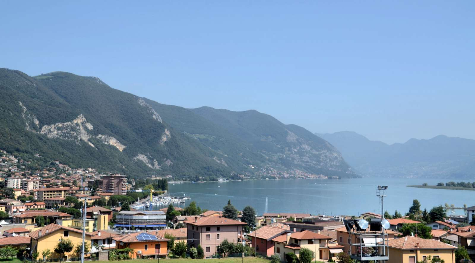 View over Lake Iseo from above Paratico's Upper Town