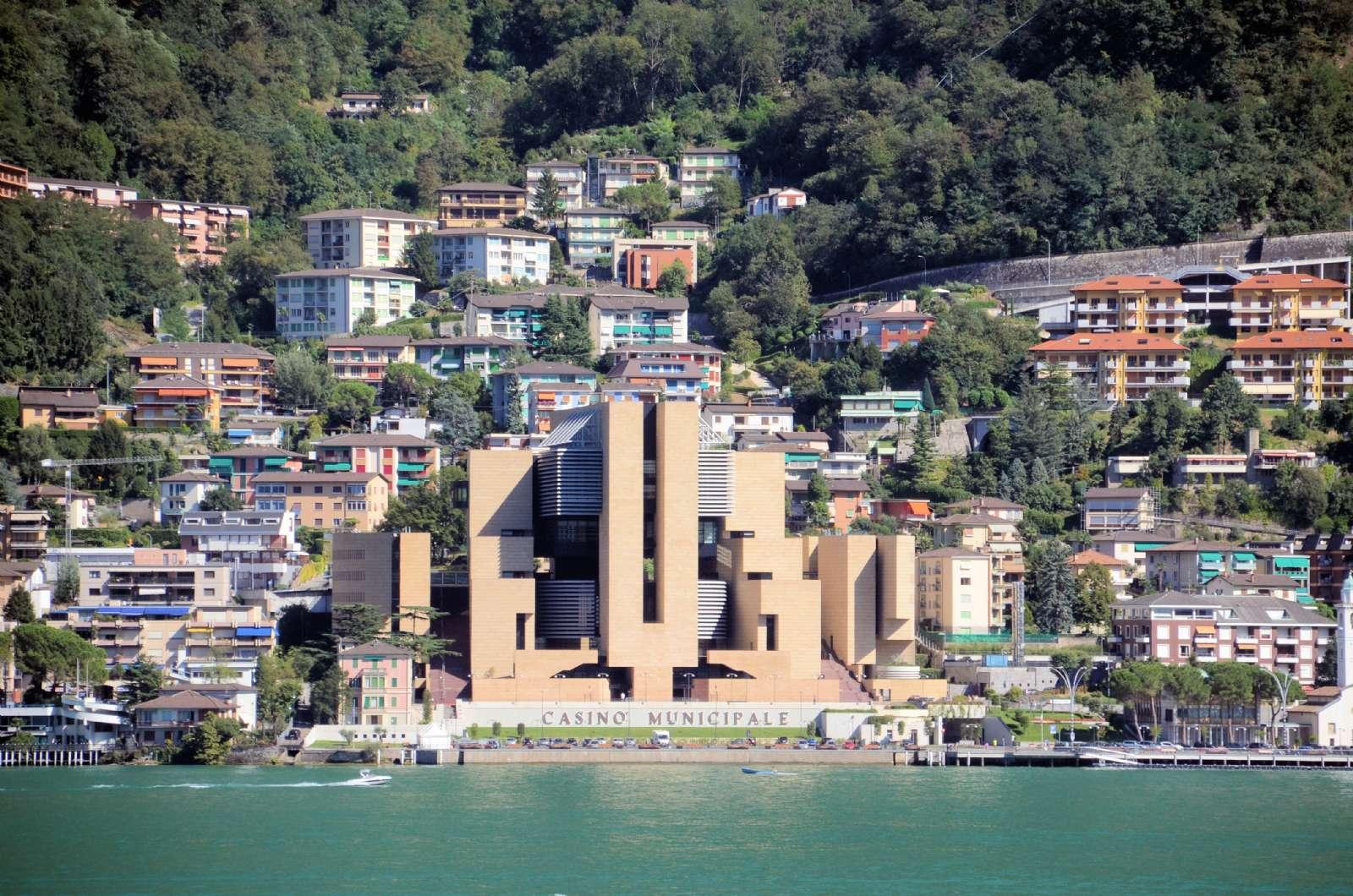 Die italienische Stadt Campione d'Italia in der Schweiz