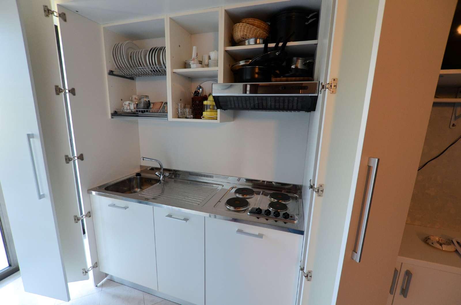 Eksempel på køkken i lejlighed