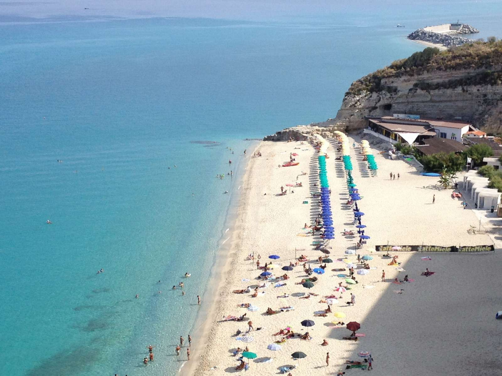 The beach in Tropea