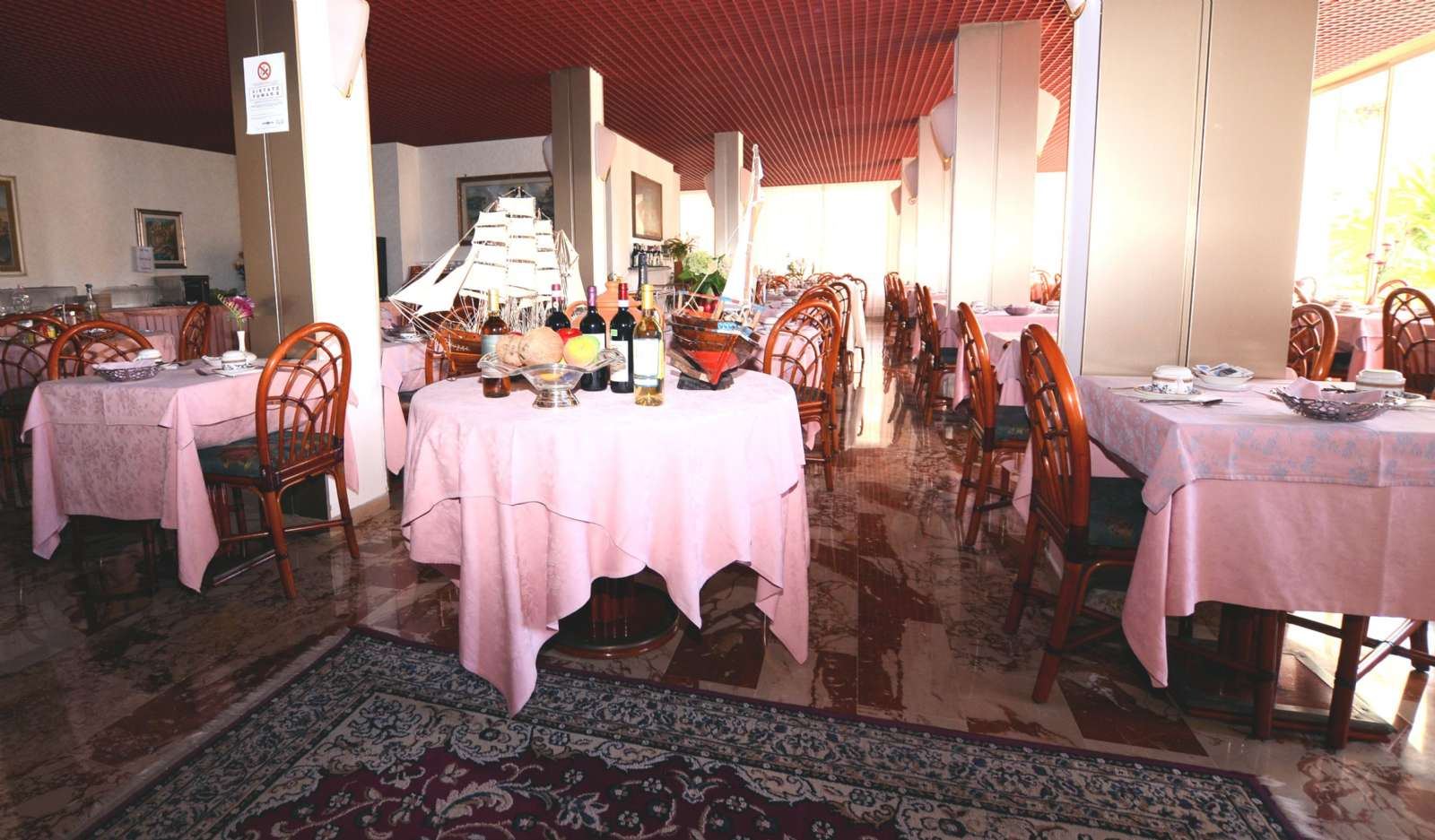 The hotel's breakfast room