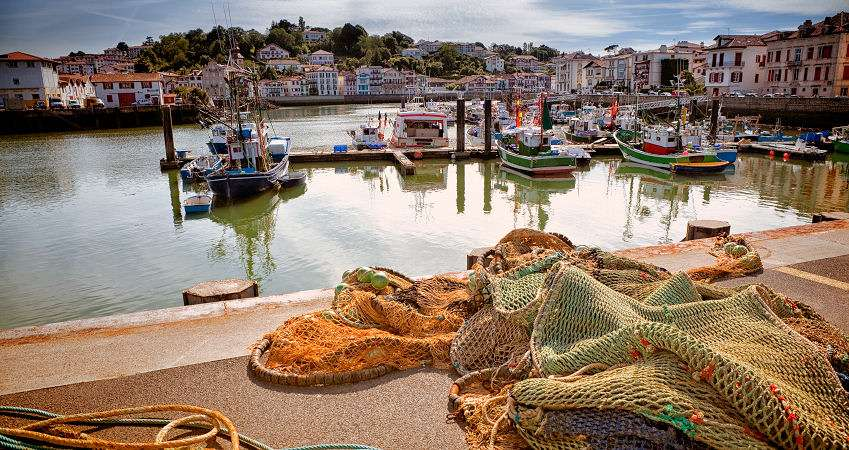 Hamnen i Saint-Jean-de-Luz