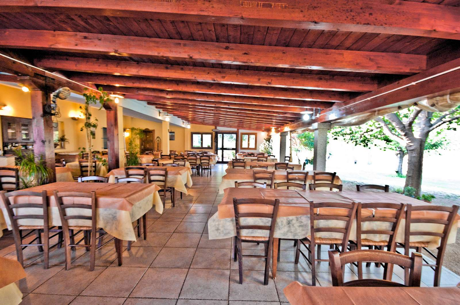 Terrace of the restaurant