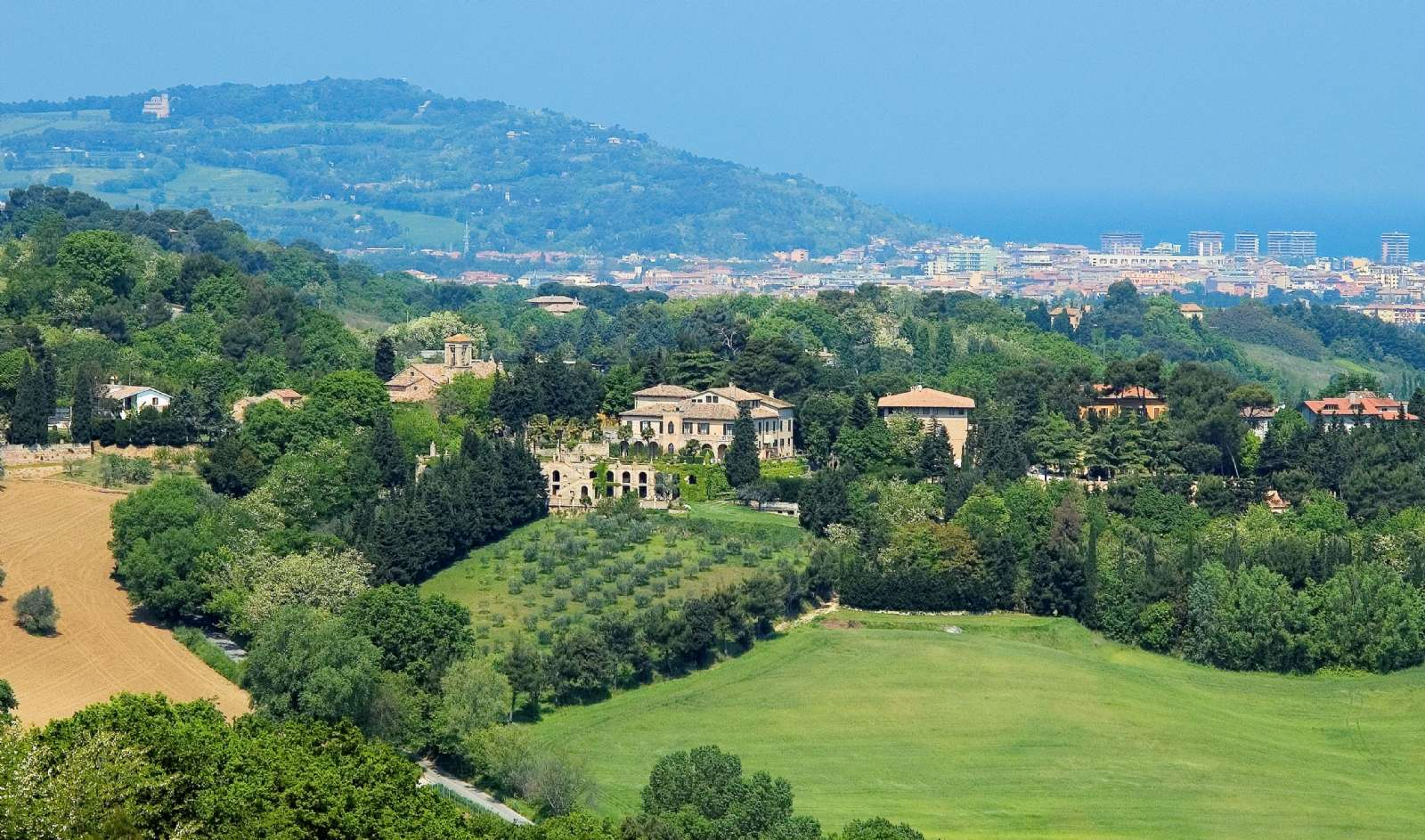 Villa Cattani Stuart Pesaro city and the coast in the background