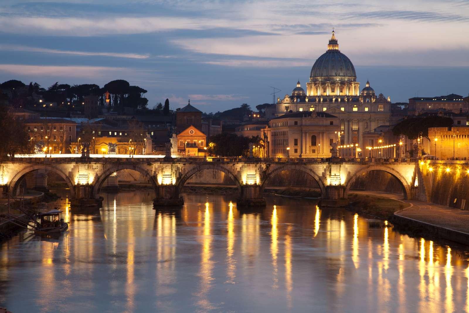 Der Tiber in der Abenddämmerung