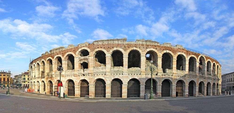 Den berömda Arenan i Verona