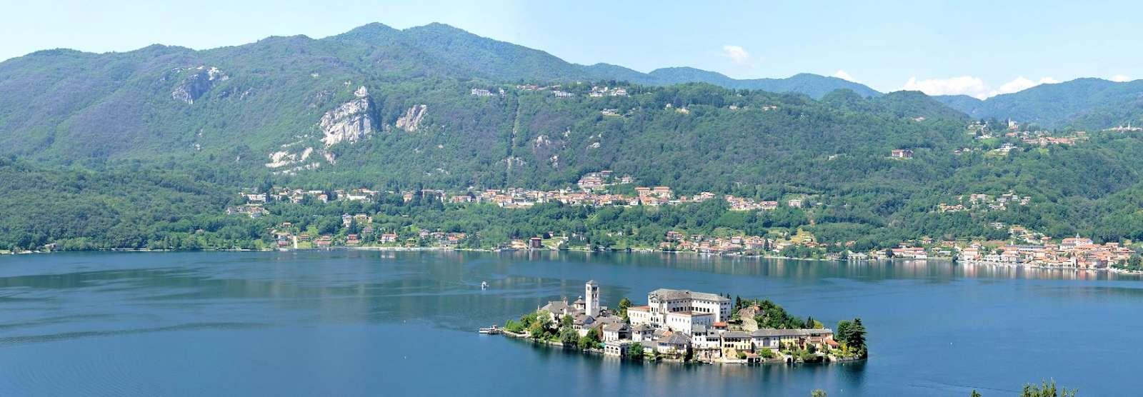 Udsigt fra Sacro Monte d'Orta