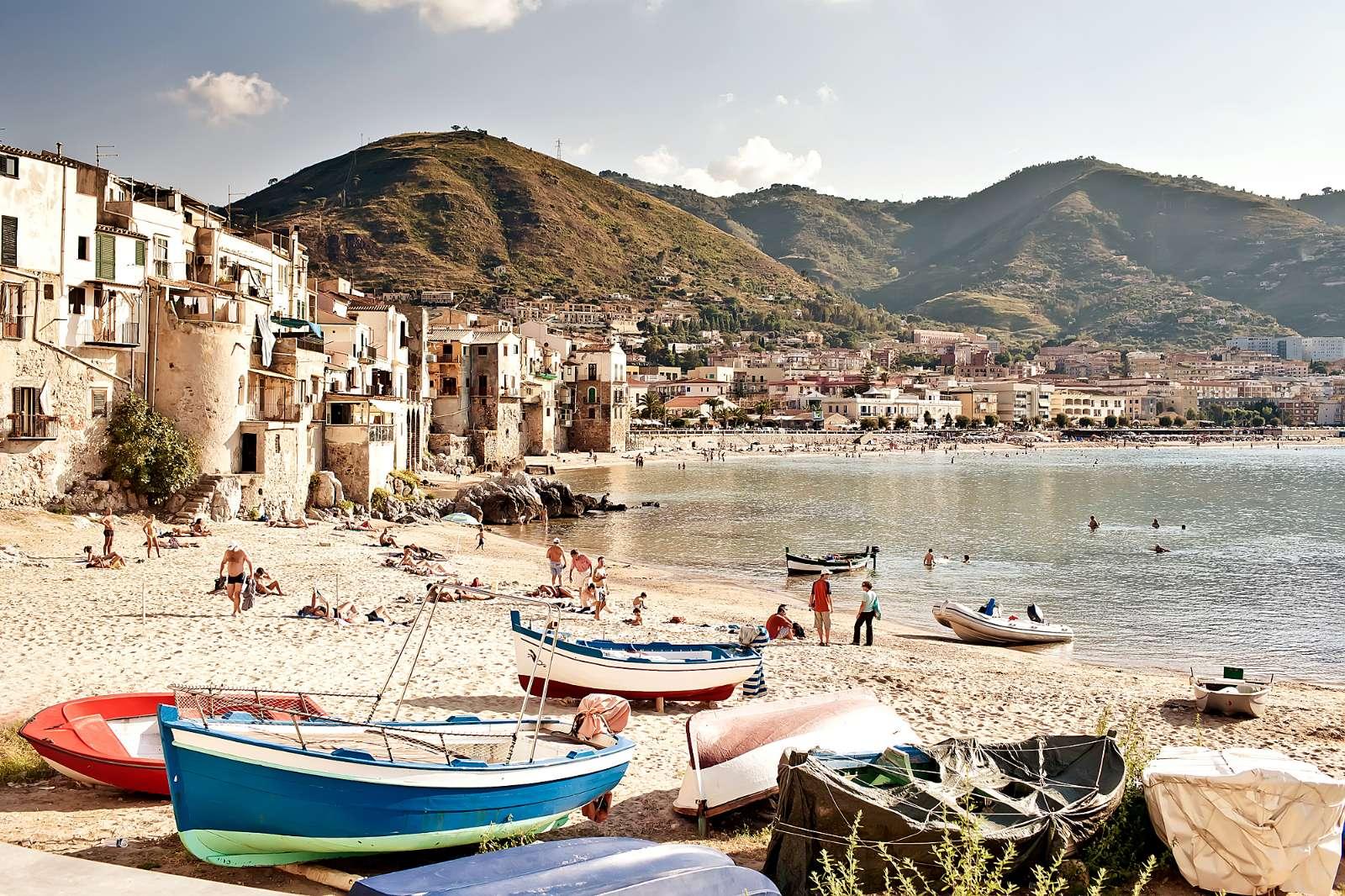 Strand am alten Hafen