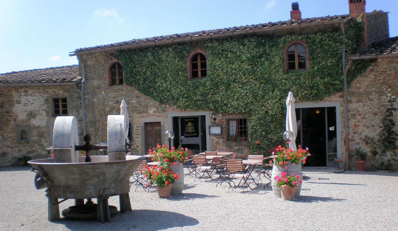 The small restaurant on Castelvecchi square