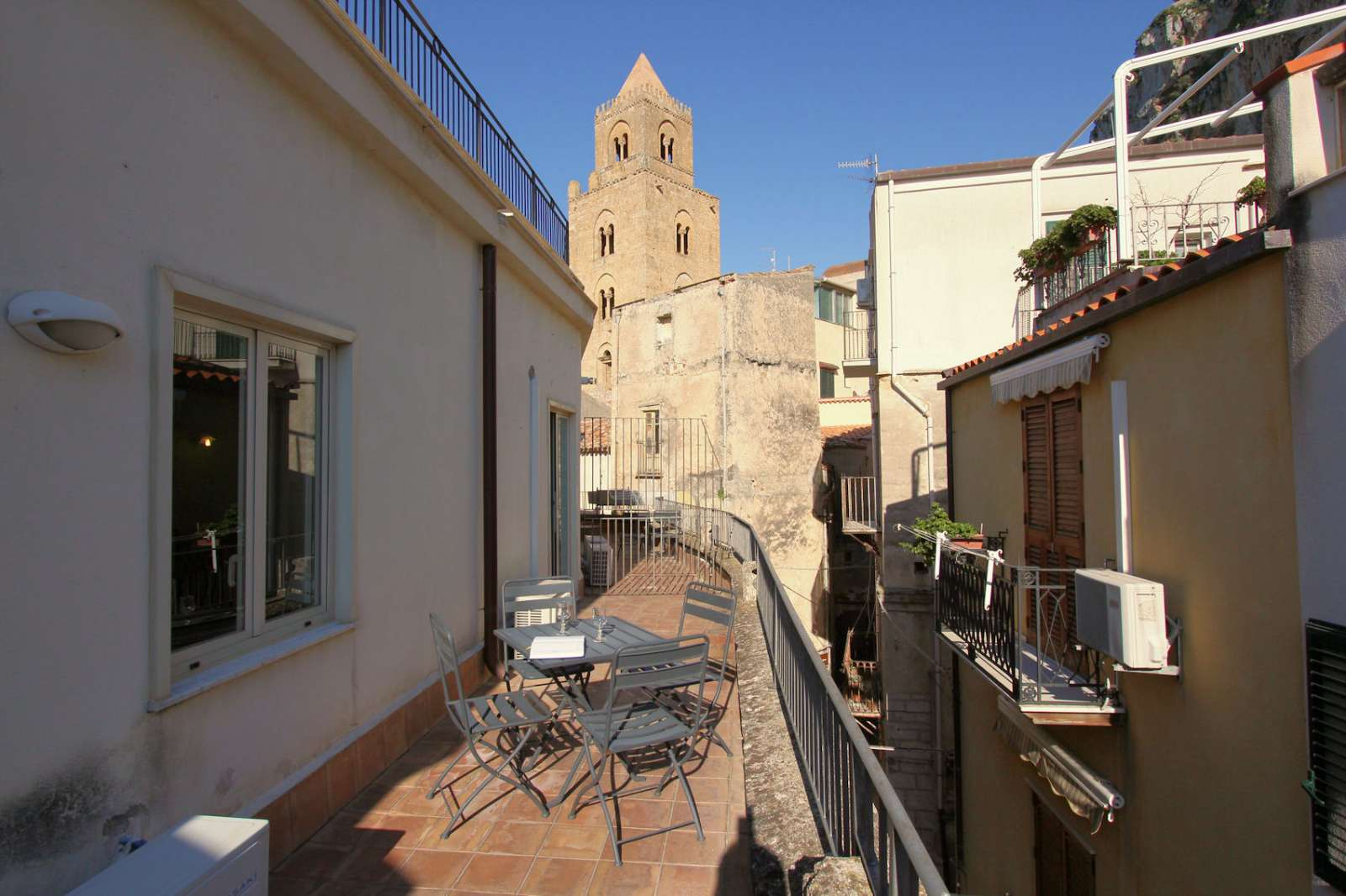 Terrassen i lägenheten Guglielmo