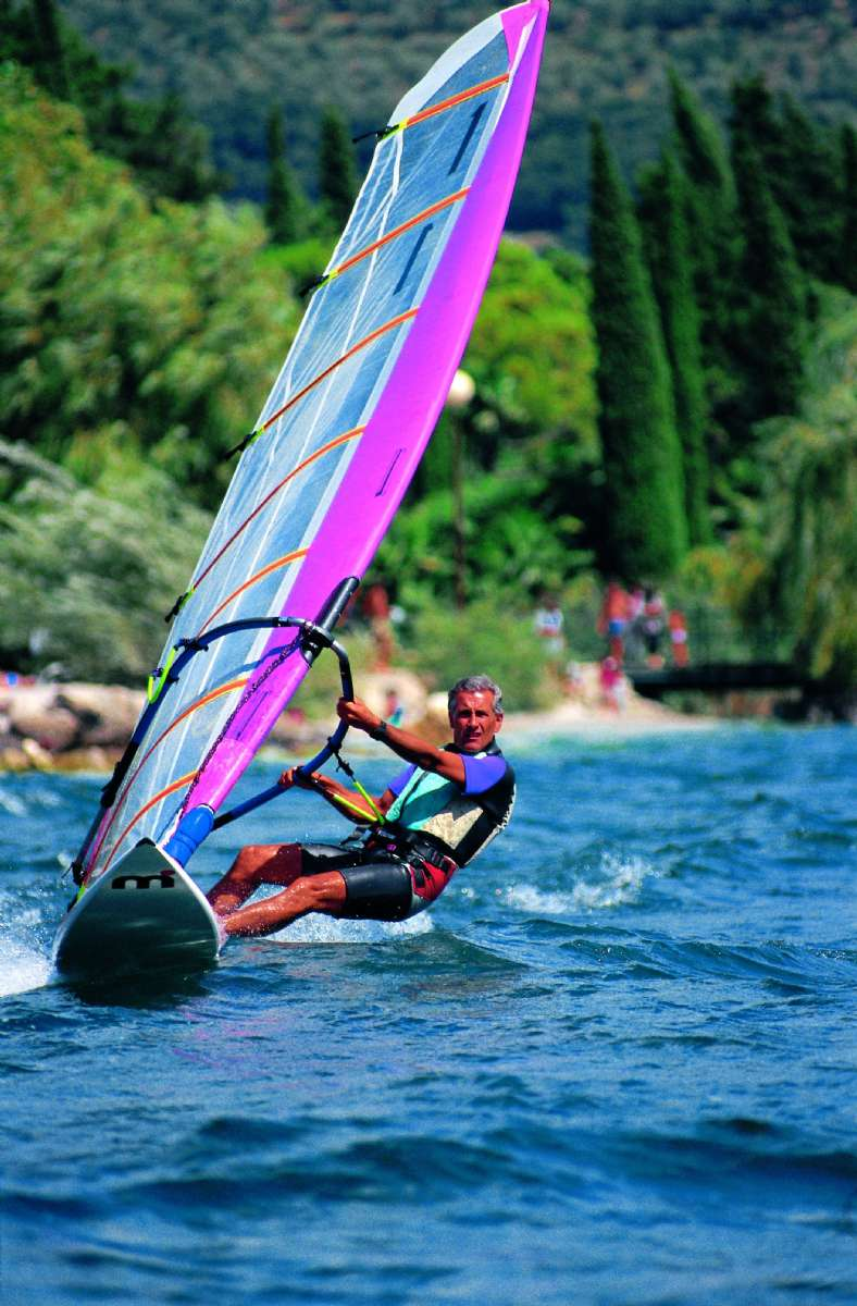 Windsurfing in the Northern part of lake Garda