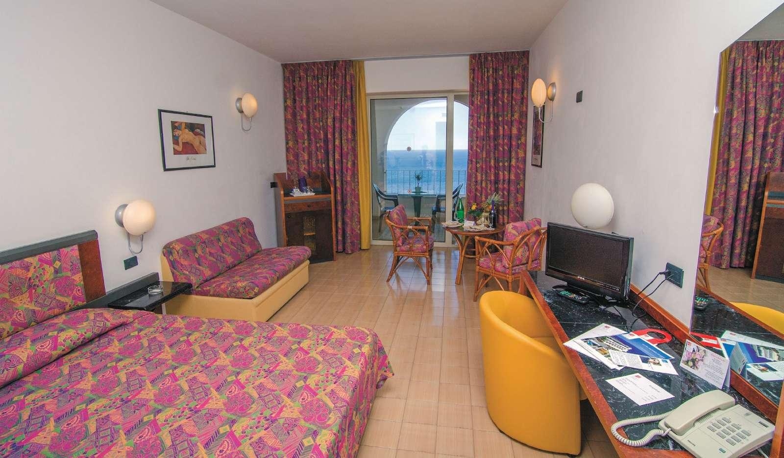 Exempel på rum på Hotel Olimpo