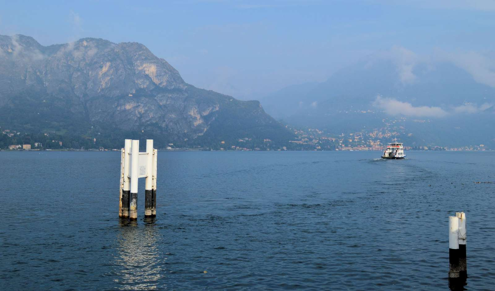 The ferries on Lake Como sail frequently