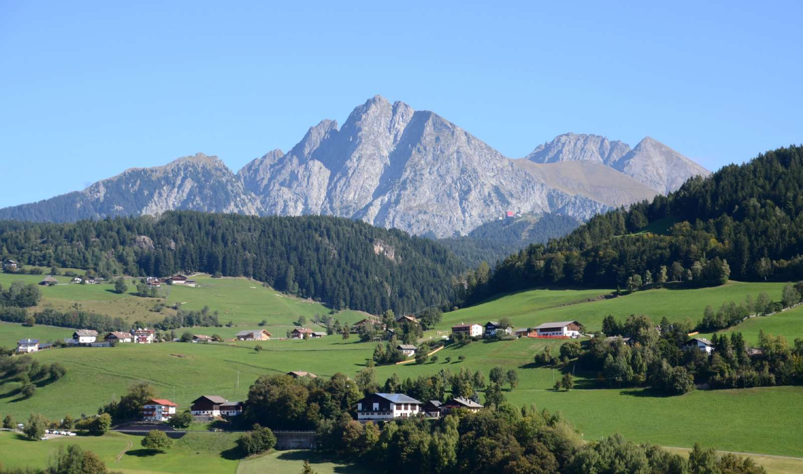 Magnificent mountain scenery near the border with Austria