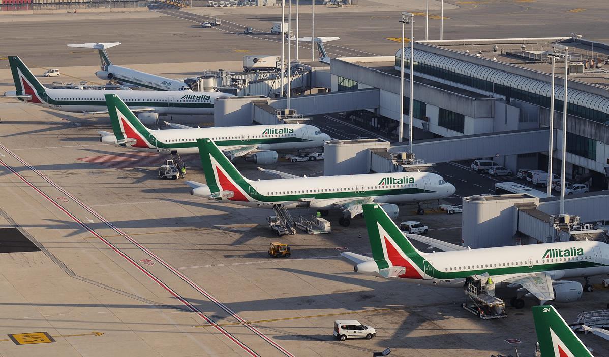 Flyselskapet Alitalia har base på Romas flyplass Leonardo da Vinci Fiumicino