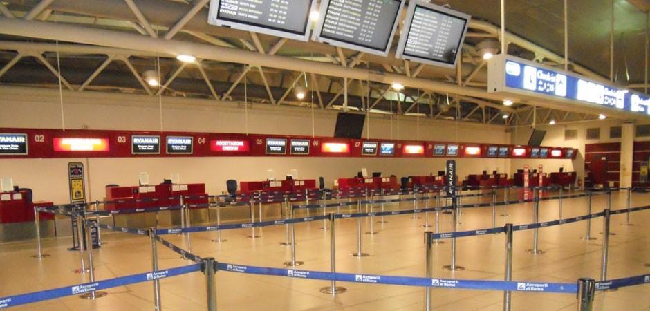Terminal til in-check i Rom Ciampino lufthavn