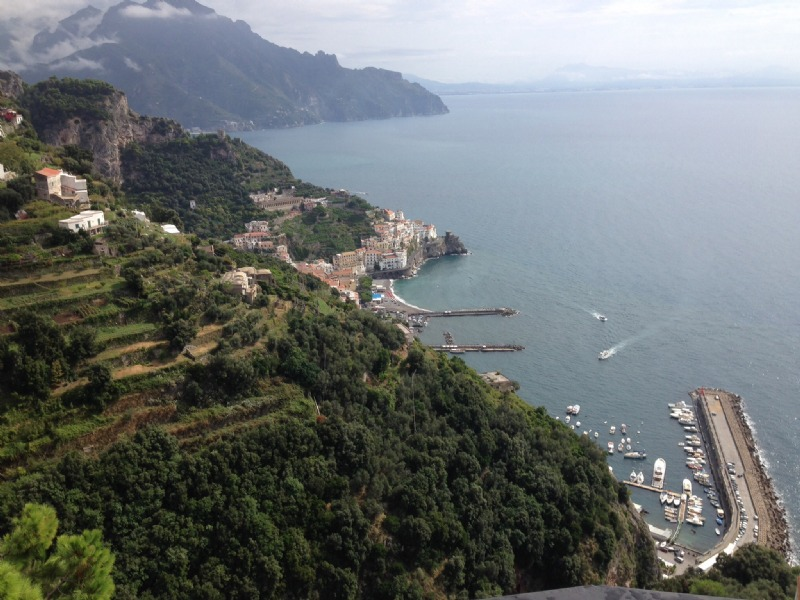 The view overlooking Amalfi from the hotel